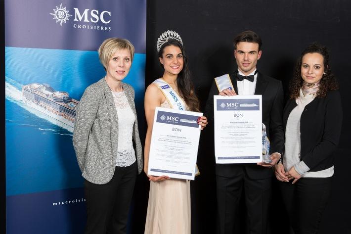 MSC Kreuzfahrten präsentiert Miss und Mister Suisse romande 2015