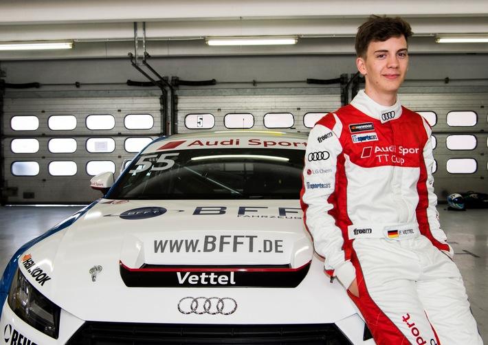 Motorsport-Talentschmiede Audi Sport TT Cup: Fabian Vettel geht mit BFFT ins Rennen