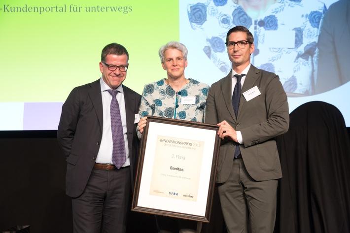 Sanitas App gewinnt zweiten Platz beim Innovationspreis der Schweizer Assekuranz