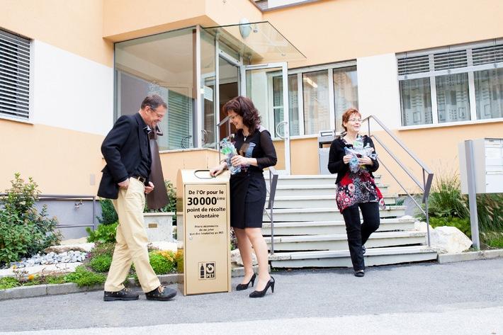 Verein PRS PET-Recycling Schweiz: Inauguration du trente millième point de collecte du PET volontaire (Image)