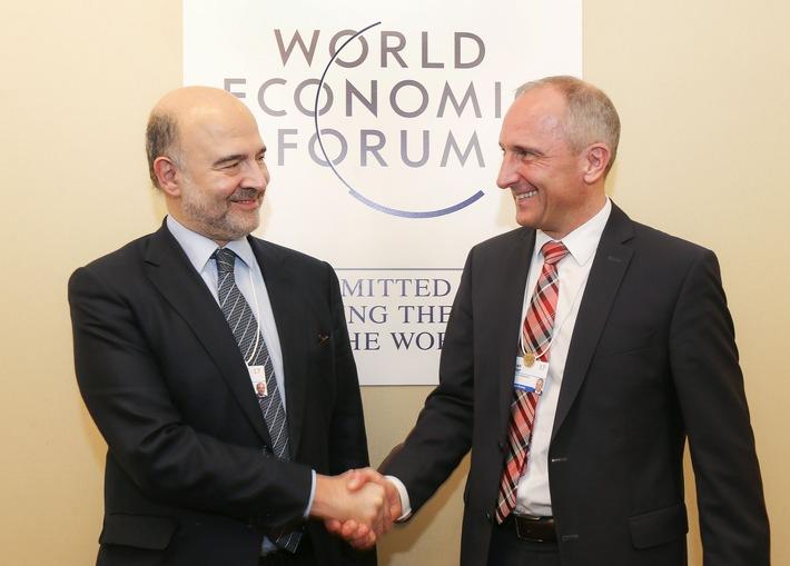 ikr: Regierungschef Adrian Hasler trifft Politik- und Wirtschaftsvertreter am WEF