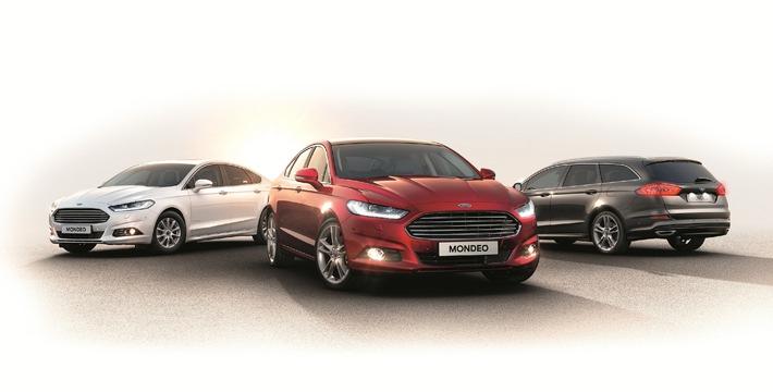Orderbücher ab sofort geöffnet: Der hochmoderne neue Ford Mondeo geht ab 27.150 Euro an den Start