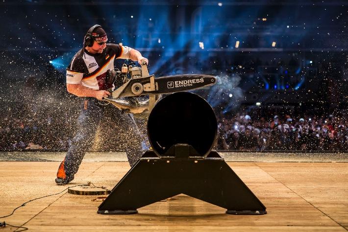 Sportholzfäller aus Neuseeland und Australien dominieren STIHL TIMBERSPORTS®-WM 2014 - Jede Menge Kleinholz