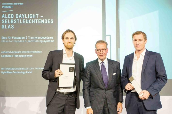 """Wiener Technologieunternehmen LightGlass mit Iconic Award 2015 als """"Best of Best"""" ausgezeichnet - BILD"""