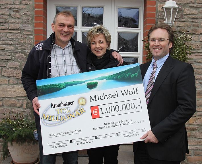 Deutschland hat den ersten Tor-Millionär (mit Bild) / Er heißt Michael Wolf (41) und kommt aus dem kleinen Dorf Hödingen in Sachsen-Anhalt