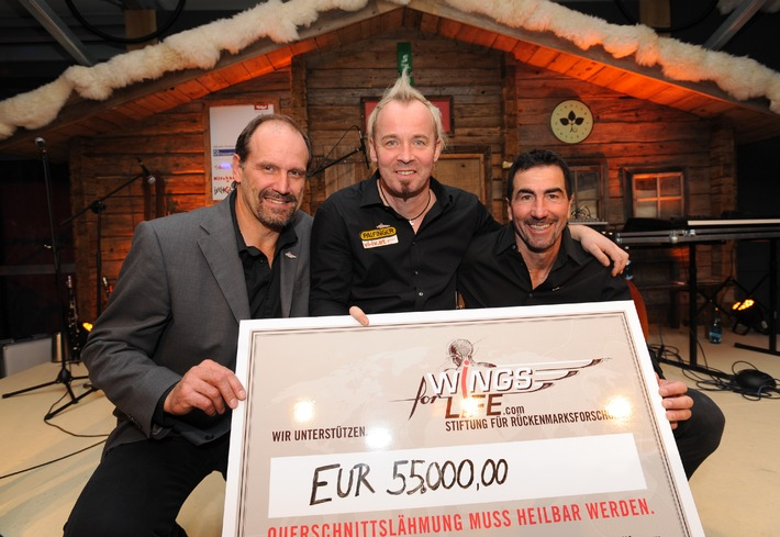 TirolBerg-Partner spenden 55.000 Euro an Wings for Life