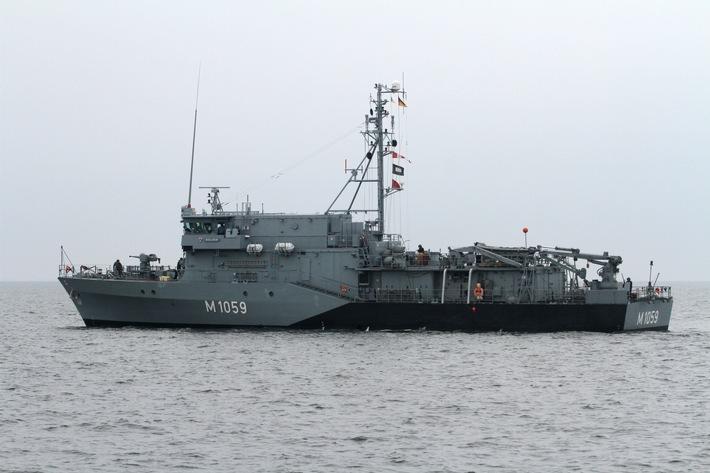 """Minenjagdboot """"Weilheim"""" kehrt nach Einsatz unter NATO- und EU-Kommando zurück"""
