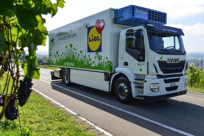 100'000 km - Lidl Schweiz fährt Rekord in der E-Logistik ein