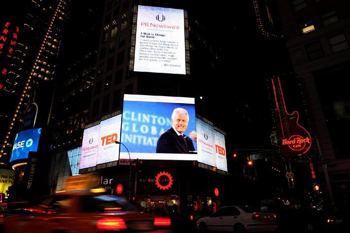 Schweizer PR-Bilder am Times Square in New York