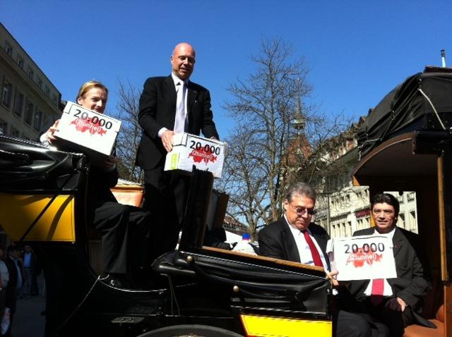 Über 20'000 Unterschriften für eine pragmatische und effiziente Lösung am Gotthard