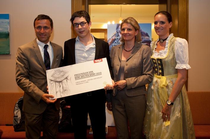 Berg.Welten 2010: Im Takt zum Gipfelsieg - Lorenz Wagner und Hamish Fulton hei�en die Preisträger