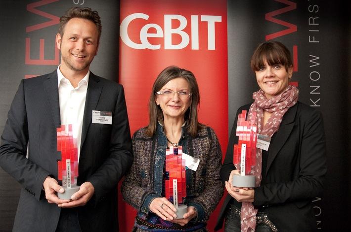 """CeBIT-PREVIEW erfolgreich beendet / PREVIEW-Award für die """"Innovation der CeBIT 2012"""" ging an BENQ, SECUSMART & VIDEOWEB (mit Bild)"""