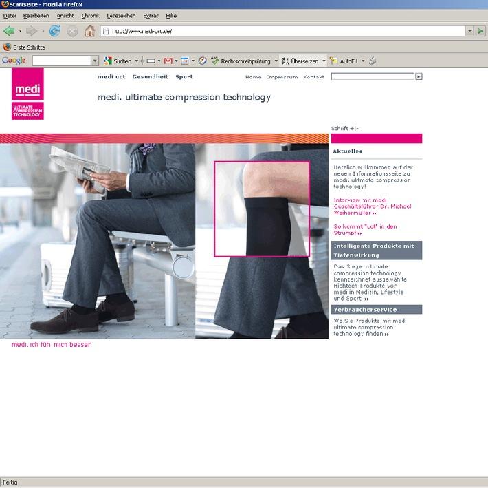 Kino, Kino auf www.medi.de / So kommt der Druck in den Kompressionsstrumpf (Mit Bild)
