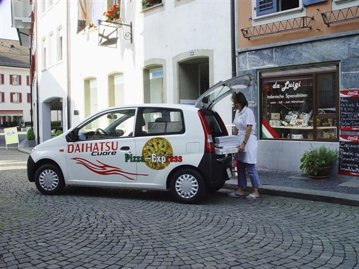 Transporteur de pizzas de Daihatsu