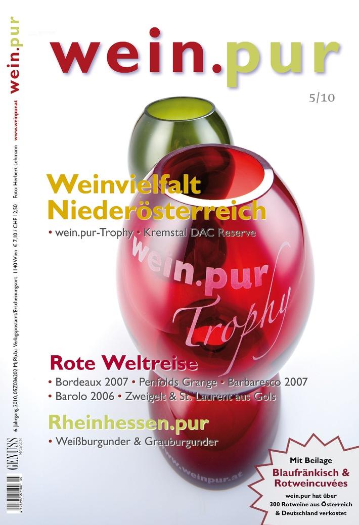 GENUSS.wein.pur 5/2010 ist da - Die wein.pur Trophy, die Schweiz und andere Wein-Highlights