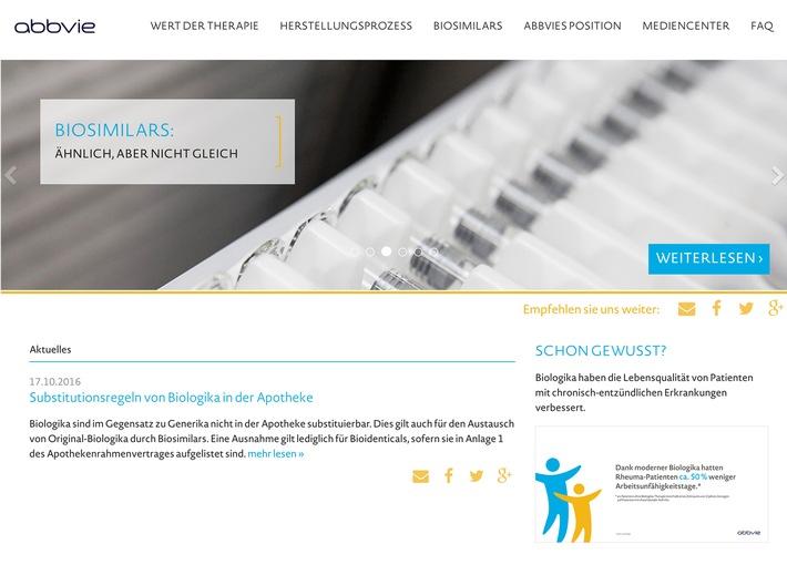 Aktuelle Themen und Debatten rund um Original-Biologika/Biosimilars jetzt auf biologika-info.de