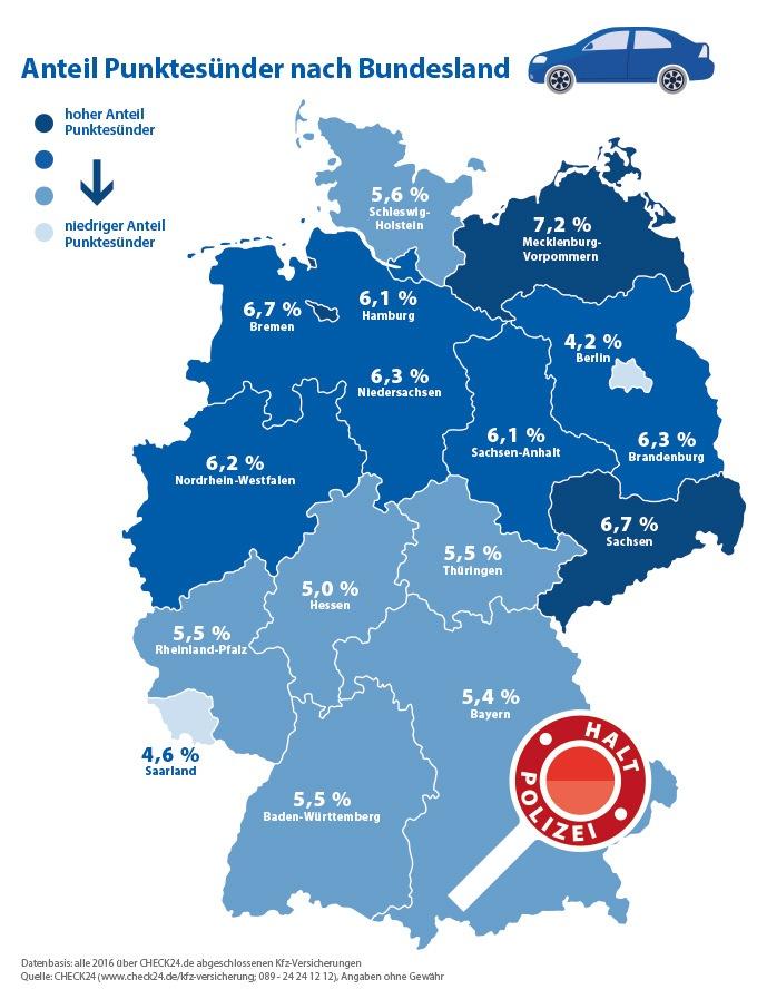Raserhochburgen: Rostock und Leipzig haben die meisten Punktesünder