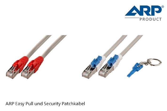 Komfort und Sicherheit mit den neuen ARP Kat. 6A Easy Pull und Security Patchkabeln