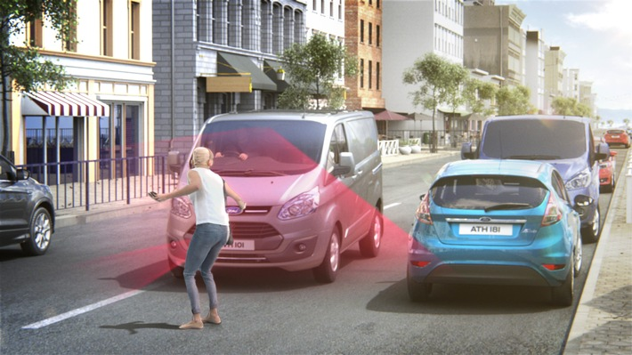 Ford Transit und Ford Custom ab sofort mit Pre-Collision-Assist bestellbar
