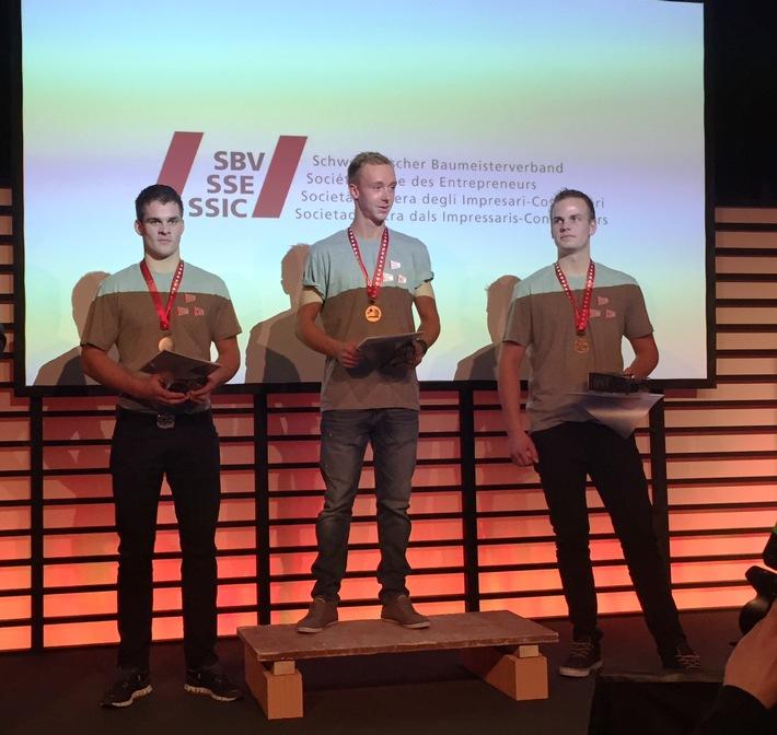 Schweizerischer Baumeisterverband: Kevin Hofer ist Schweizermeister 2016 der Maurer