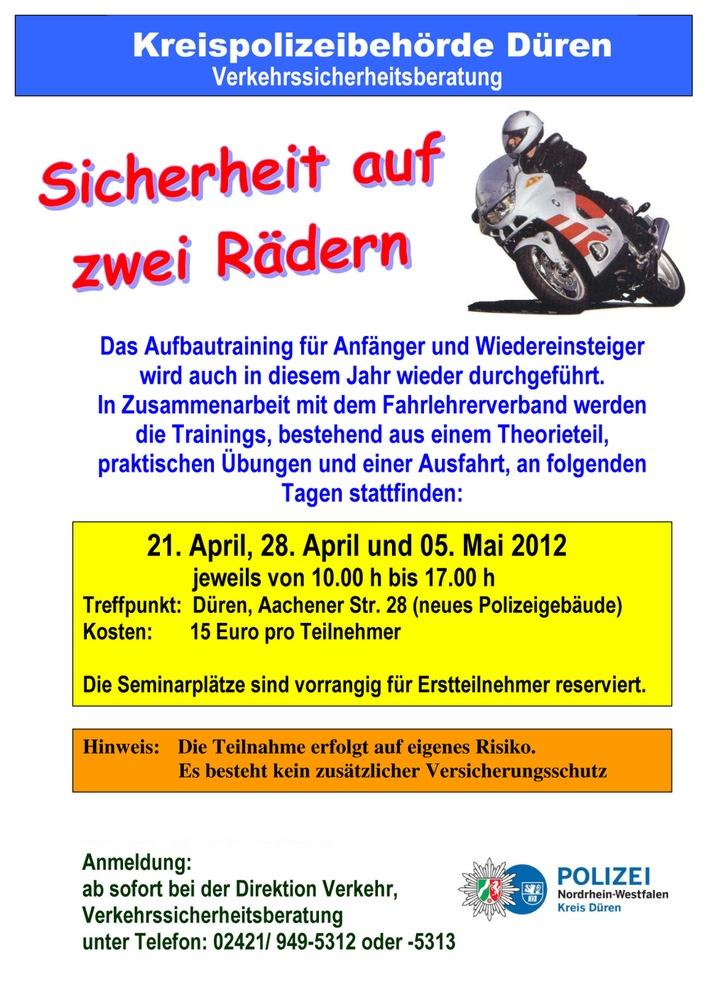 POL-DN: Motorradsaison geht wieder los