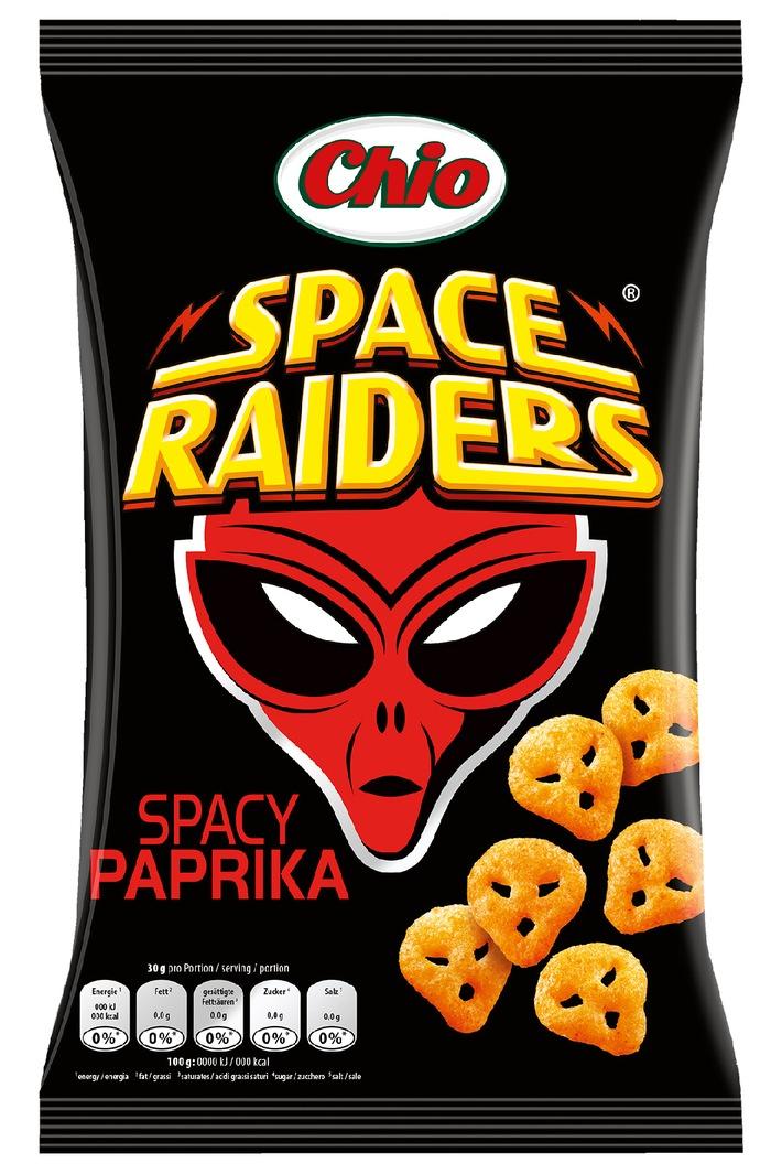 Knuspriger Snackgenuss vom anderen Stern: Chio Space Raiders