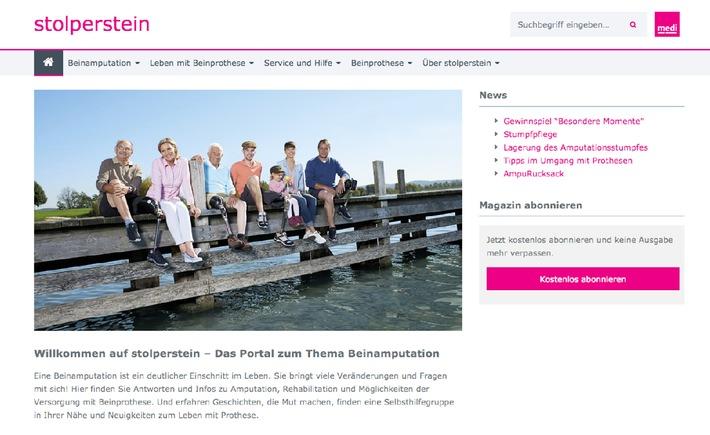 Neues Informationsportal für Beinamputierte / Frischer Wind auf www.stolperstein.com