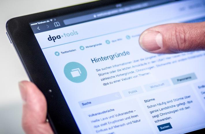 Neuer Werkzeugkasten für Redaktionen: dpa-Tools ist online