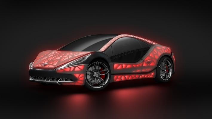 """Weltpremiere des Concept Car """"EDAG Light Cocoon"""" in Genf / Ein ultimatives Statement für den Automobil-Leichtbau der Zukunft"""
