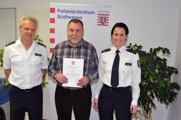 POL-DA: Erbach im Odenwald: Urgestein der Polizeistation Erbach geht in Altersteilzeit