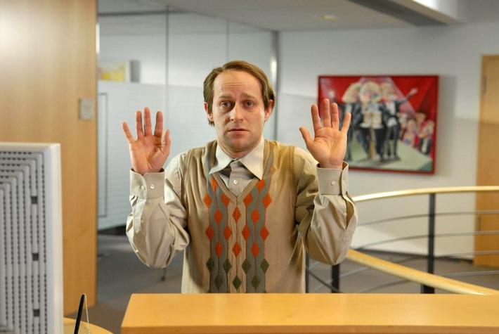 Hände hoch! Bullys Wikinger überfallen Jürgen Vogels Bank