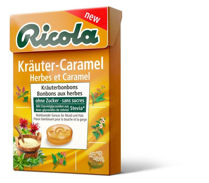 Ricola bringt erstes Kräuter-Caramel Bonbon auf den Markt