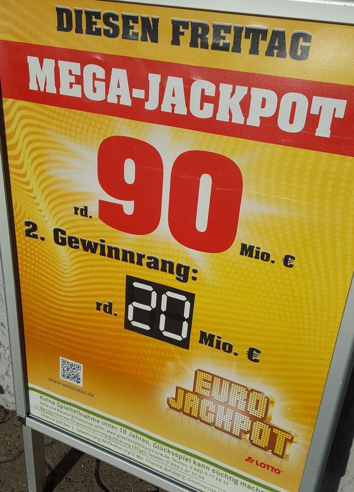 Jackpot geknackt / Deutscher Rekordgewinn geht nach Baden-Württemberg / Weitere Millionäre in der Gewinnklasse 2