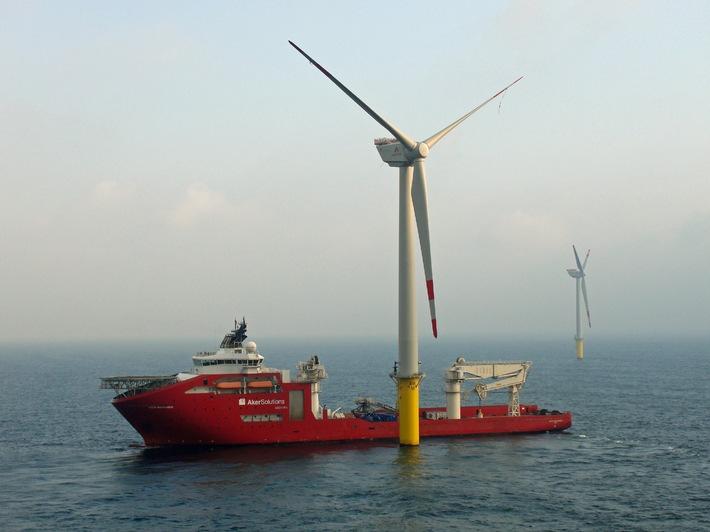 Stadtwerke-Windpark in der Nordsee geht ans Netz / Trianel Windpark Borkum liefert ersten Strom