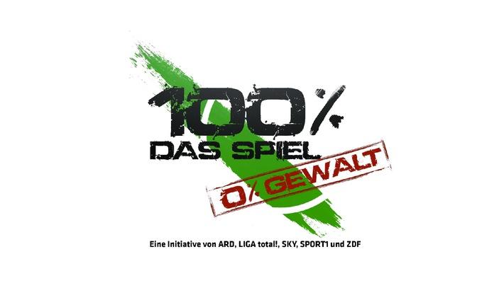 """""""100 Prozent Das Spiel - 0 Prozent Gewalt"""": Eine Initiative von ARD, LIGA total!, Sky, SPORT1 und ZDF"""