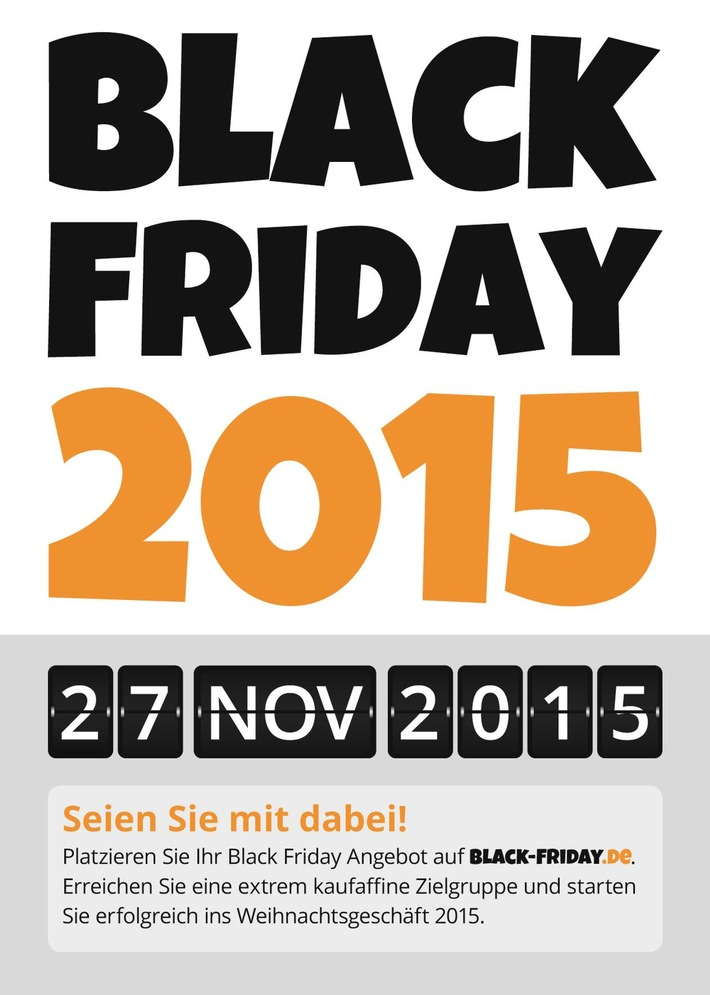 Black Friday 2015: Händler können ihre Angebote ab sofort kostenlos bei Black-Friday.de einreichen