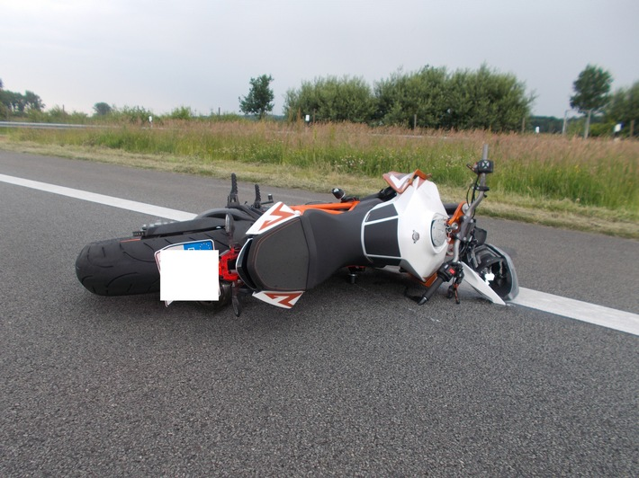 POL-STD: Motorradfahrer verstirbt nach Verkehrsunfall auf der A26 --- Die Polizei warnt erneut eindringlich vor Anrufe falscher Polizeibeamter