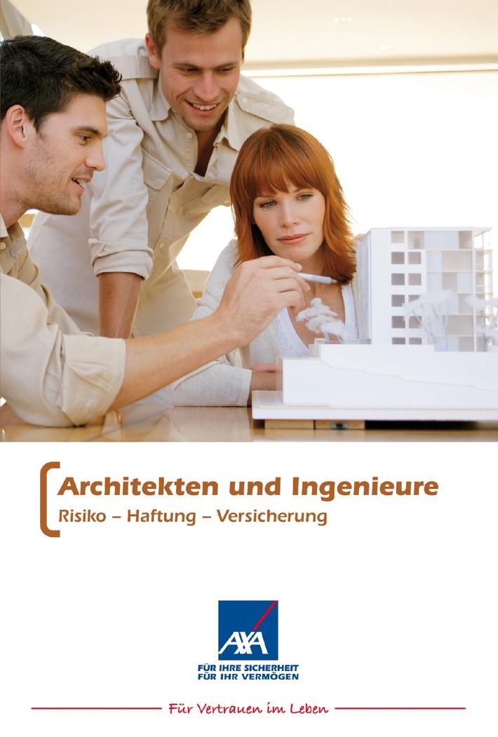 Ratgeber für Architekten und Ingenieure / AXA Versicherung gibt Neuauflage des umfangreichen Rechtsleitfadens heraus