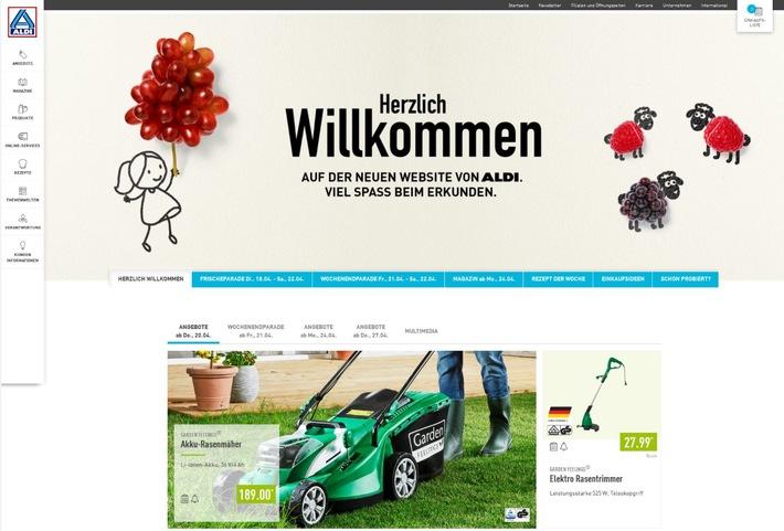 Website-Relaunch - ALDI Nord navigiert Kunden einfach durchs Netz