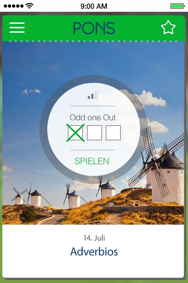 Ab sofort täglich für 5 Minuten nach Großbritannien, Spanien oder Frankreich: Die Sprachkalender-Apps von PONS für iOS halten das ganze Jahr über sprachlich fit