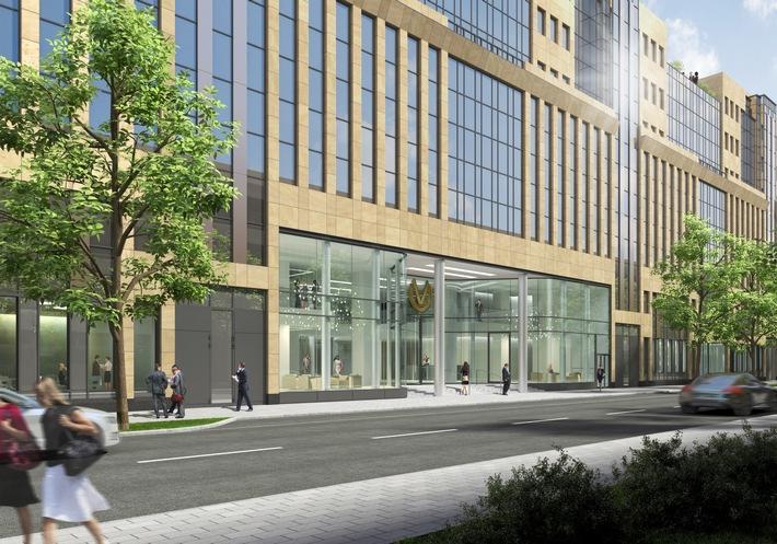 Sichtbarer Umbau in der Windmühlstraße 14 startet: Deutsche Vermögensberatung (DVAG) beginnt Ausbaumaßnahmen im neuen Gebäude