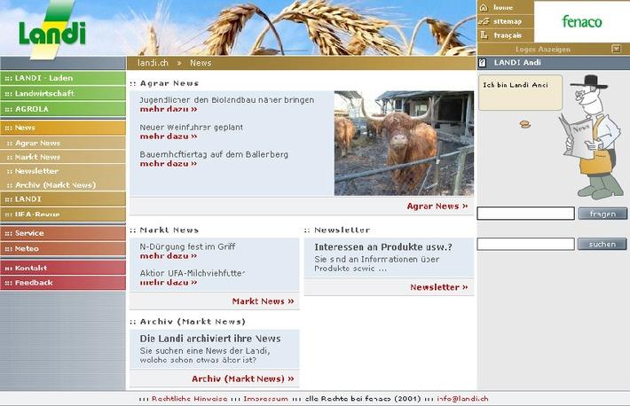 Information und Kommunikation in der Agrarwirtschaft: www.landi.ch von fenaco