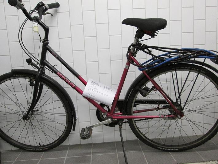 POL-DA: Darmstadt: Fundort Haardtring / Polizei sucht Besitzer von Hercules-Fahrrad