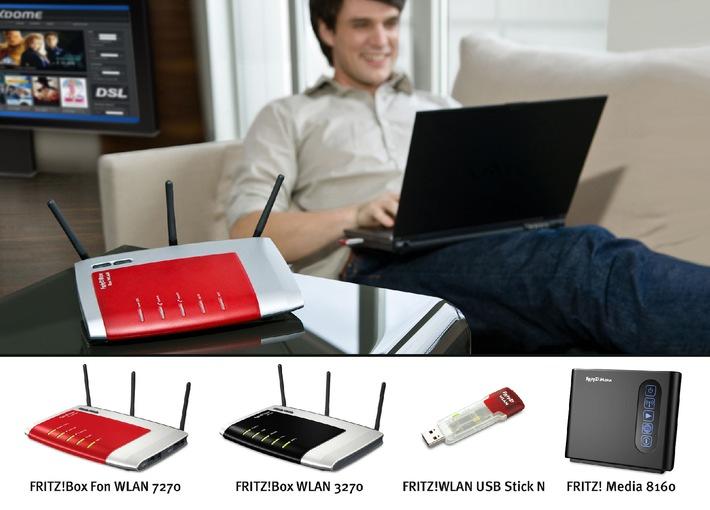 AVM auf der Cebit 2008: Mehr DSL mit schnellem WLAN N-Standard - Neue Leistungsklasse mit aufeinander abgestimmten Produkten