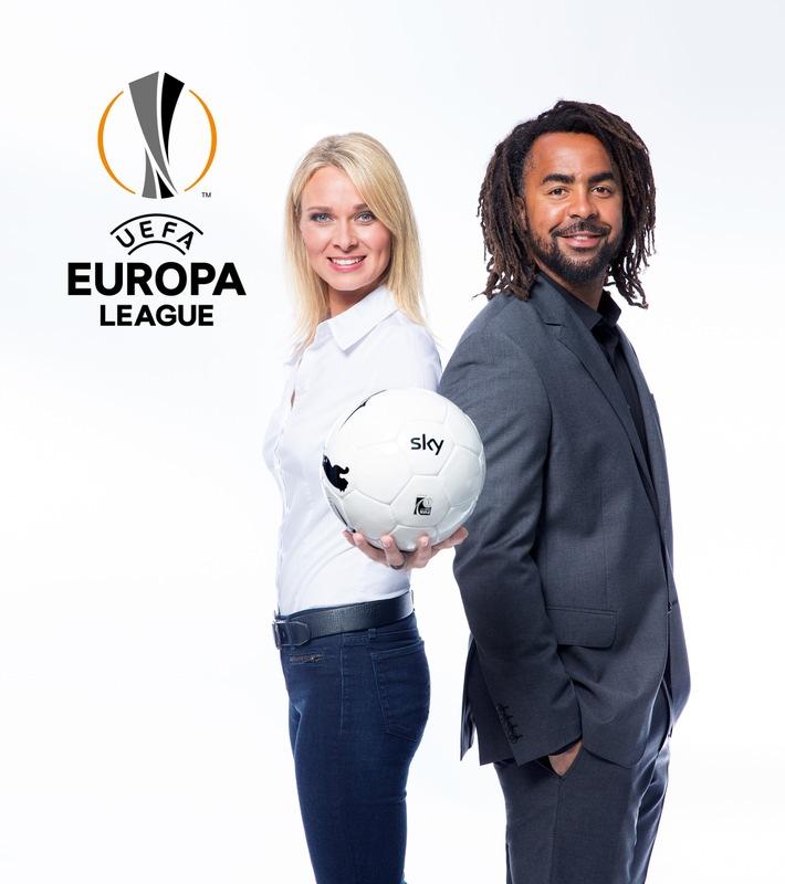 Sky Experte Patrick Owomoyela moderiert mit Britta Hofmann die UEFA Europa League / Erste Sendung am Donnerstag, 17. September auf Sky Sport HD 1