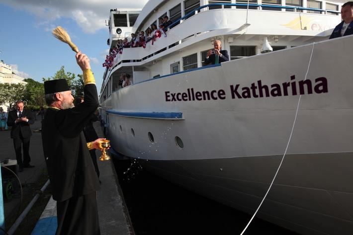 Flussschiff Excellence Katharina in Moskau getauft