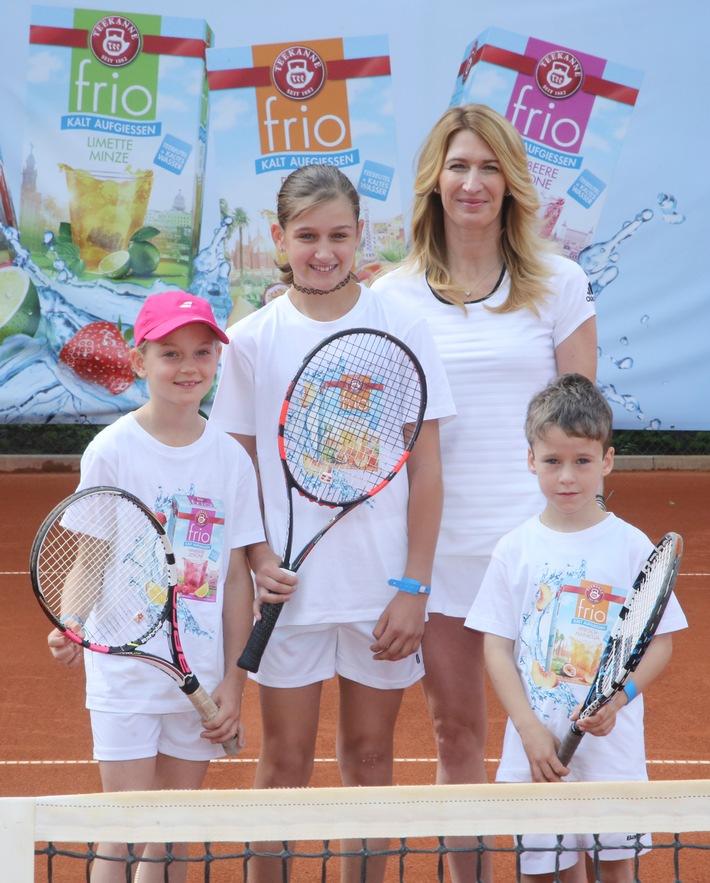 Prominente Tennisstunde in Ludwigshafen: Eiskalt serviert mit Stefanie Graf