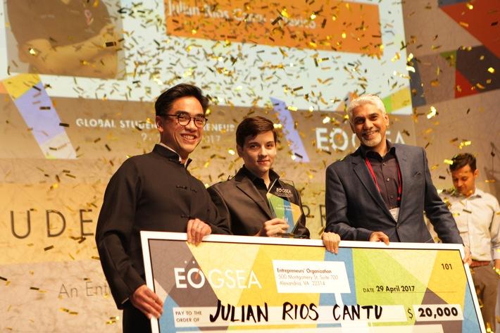 Preisverleihung in Frankfurt: Mexikanischer Student gewinnt Global Student Entrepreneur Awards der Entrepreneurs' Organization