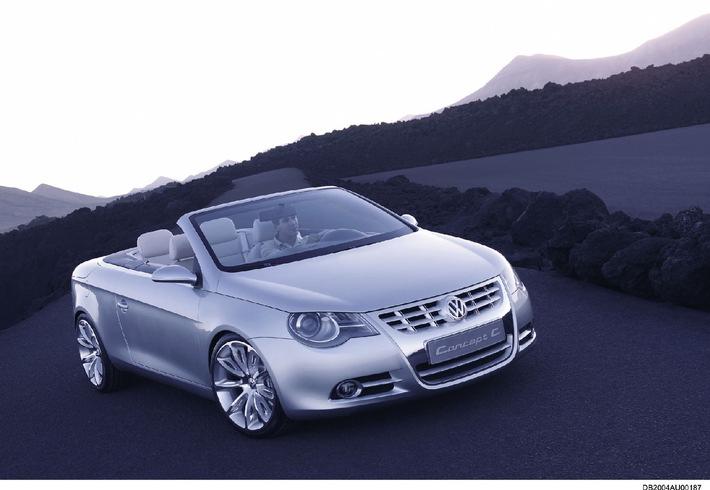 VW: Neues Cabriolet mit innovativem Dachsystem kommt 2006 auf den Markt