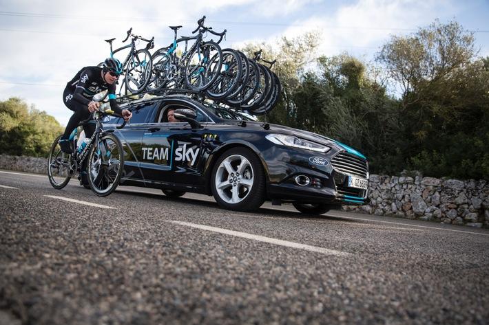 """Ford: Exklusiv-Lieferant von Pkw und Transportern für die britische Radrennsport-Mannschaft """"Team Sky"""""""